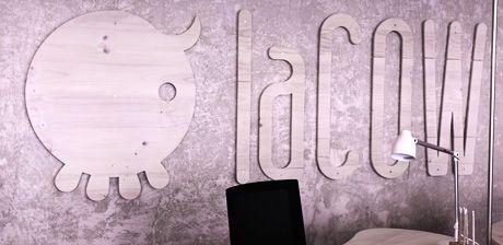 La cow, coworking, brand, logo, marca