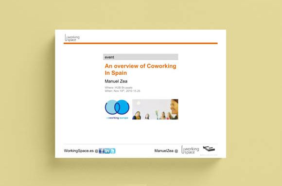 An overview of Coworking in Spain. Nov 2010