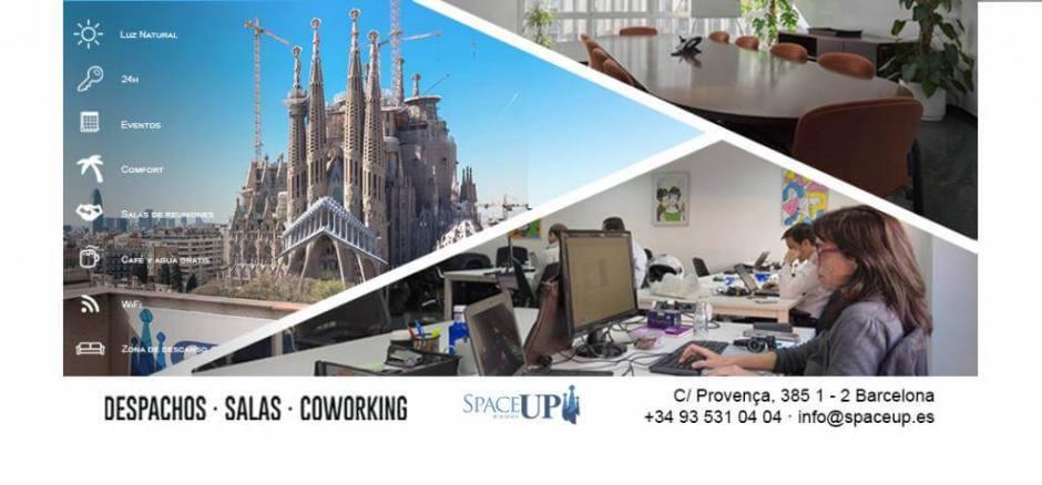 Centro de negocios con coworking Barcelona Space Up