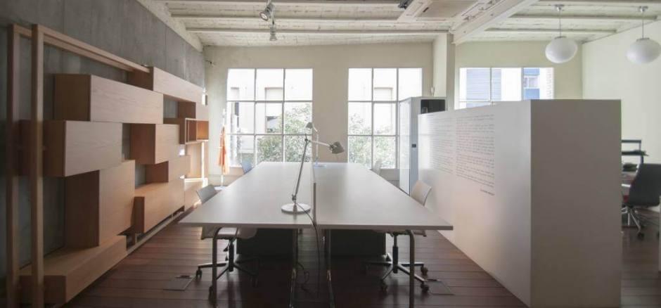 Oficina compartida Barcelona Espacio en estudio de interiorismo