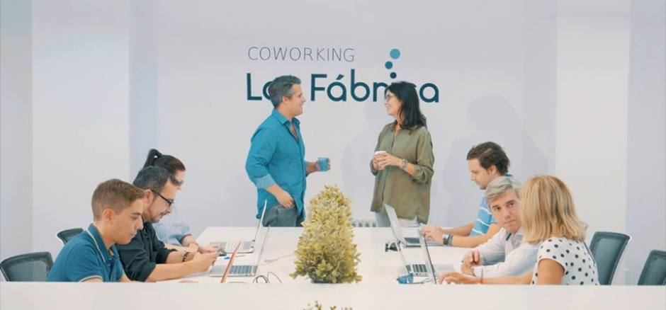 Centro de negocios con coworking Madrid Coworking La Fábrica