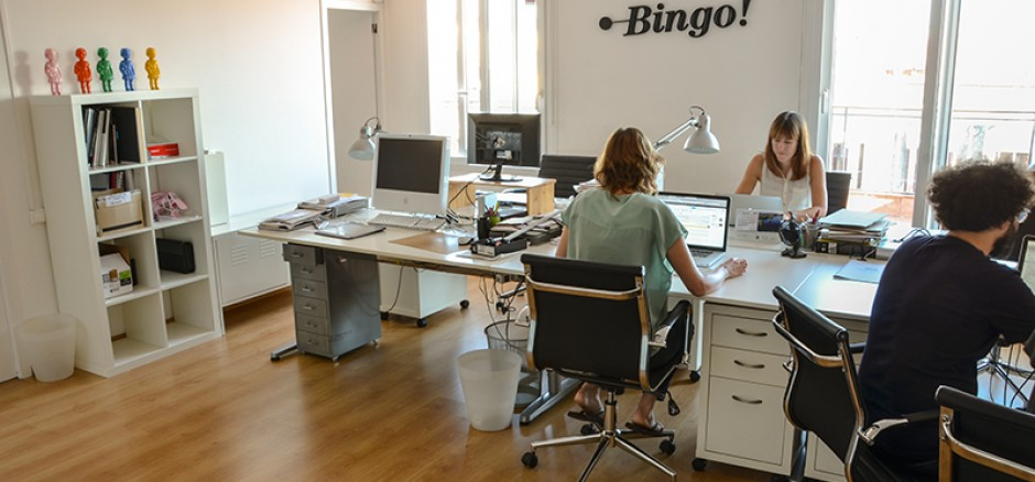 Bingo oficina compartida en barcelona for Oficina bicing