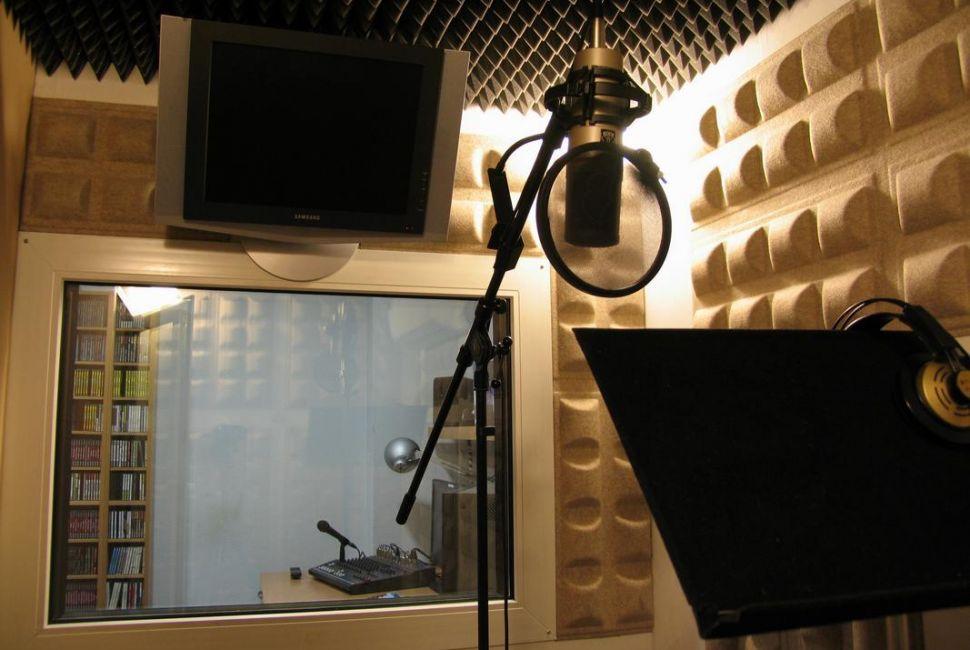 Locutorio + sala de sonido con técnico